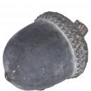 Beton Eichel Dusty, L15cm, B11cm, H10cm, schwarz-g